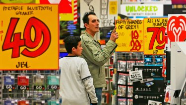 Music and movies once dominated JB Hi-Fi's stores.