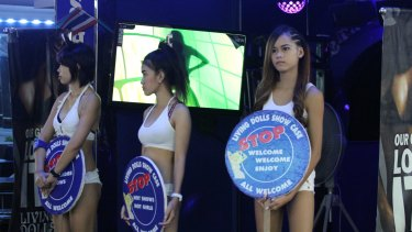 Girls working in Pattaya, Thailand.