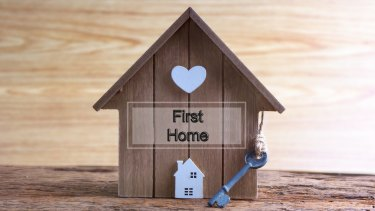The number of properties sold to first home buyers is rising.