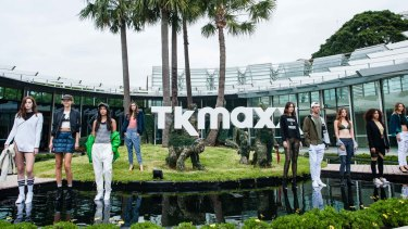 Models showcase designs during the TK Maxx Australia launch in Sydney.