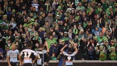 Viking clap drama: Michael Ennis mocks Raiders fans.
