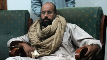 Saif al-Islam Gaddafi, the son of Libya's dictator, after his capture in November 2011.
