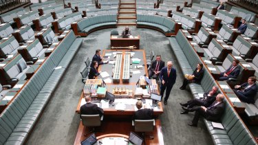 Prime Minister Malcolm Turnbull introduces the plebiscite to Parliament.