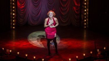 Chelsea Gibb as Sally Bowles in the Australian production of Cabaret.