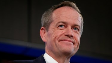 Opposition Leader Bill Shorten addresses the National Press Club of Australia in Canberra on Tuesday.