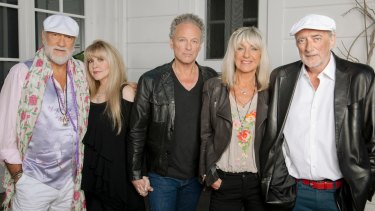 Mac is back: Mick Fleetwood, Stevie Nicks, Lindsay Buckingham, Christine McVie and John McVie.