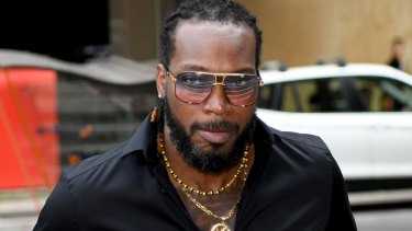 Chris Gayle gave evidence on Monday.