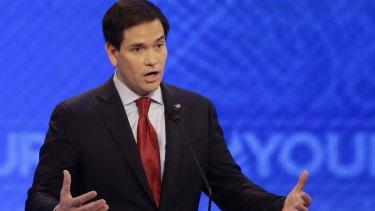 Marco Rubio makes his point – again – during Saturday's Republican debate.