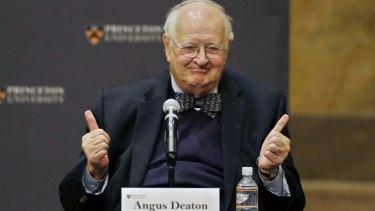 Nobel Prize winner Angus Deaton.