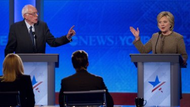 A clash between frontrunner Hillary Clinton and her main Democratic rival, Vermont senator Bernie Sanders