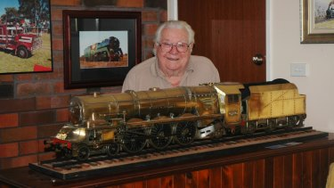 Norm Mitchell, 90, founded a model trains group in the Coffs Harbour area and the members have a pact to help sell each other's collections after death.