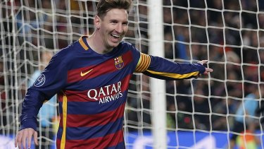 Masterful: Barcelona's Lionel Messi.