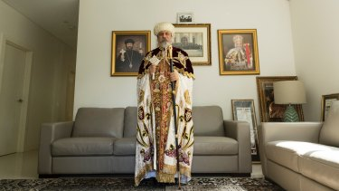 Bishop Daniel, leader of the Coptic Orthodox church in Australia, pictured at his home in Peakhurst, Sydney.