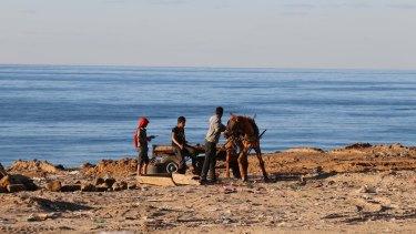 The Gaza Strip's Mediterranean coastline.