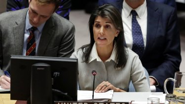 US Ambassador to the UN Nikki Haley says women should be taken seriously even if complaining about Trump.