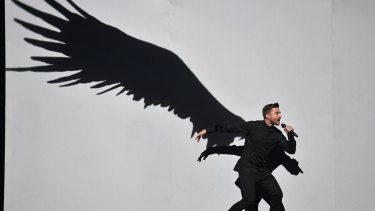 Russia's Sergey Lazarev performs the song 'You Are The Only One' during the Eurovision Song Contest.