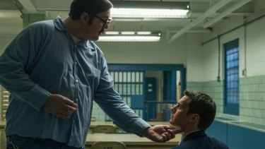 Cameron Britton (left) and Jonathan Groff in <i>Mindhunter</i>.