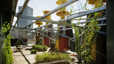 The City of Melbourne's Council House 2 building has a rooftop garden.