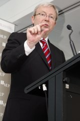 "Kevin Rudd once claimed tackling climate change was the ""great moral challenge""."