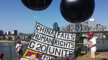 Pro-Tibet protesters make their point at G20.