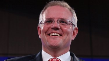 Social Services Minister Scott Morrison at the National Press Club on Wednesday.