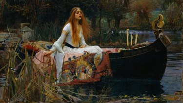 Looking for Lancelot: The Lady of Shalott by John William Waterhouse.