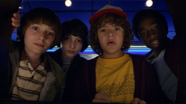 The action is dialed up in the second season of <i>Stranger Things</i>.