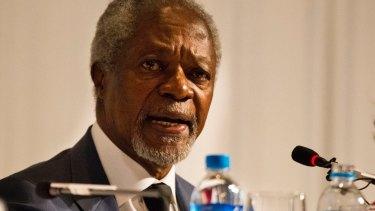 "Former UN secretary-general Kofi Annan: ""No cause can justify such senseless killing."""