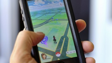 Pokemon Go in action. The game has been released in Australia, New Zealand and the US first.