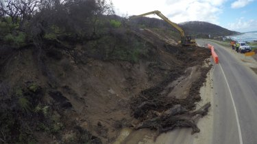 Landslides along the Great Ocean Road have led to road closures.