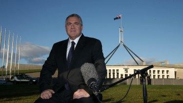 Treasurer Joe Hockey in between breakfast tv interviews following budget announcements
