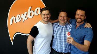 Drew Bilbe, Steve Smyth (centre) and Troy Douglas say they have made a sugar-free soft drink with a full sugar taste.