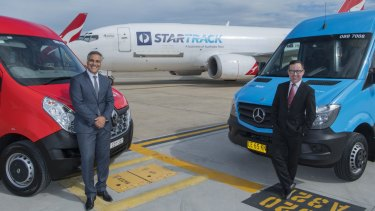 Partnership: Ahmed Fahour and Alan Joyce.