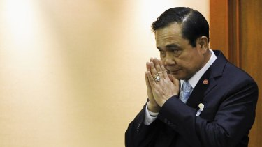 Thai Army chief General Prayuth Chan-ocha was appointed Prime Minister last year by an assembly appointed by the military.