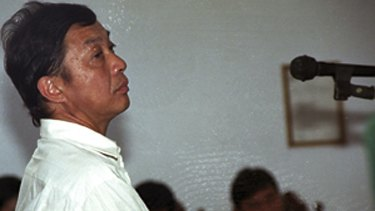 Executed: Dutch citizen Ang Kiem Soei, seen here during his trial in 2003.