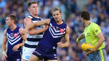 Nat Fyfe was targeted by the Cats last weekend.