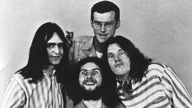 Daddy Cool in the '70s. Clockwise from front, Ross Wilson, Wayne Duncan, Ross Hannaford and Gary Young.