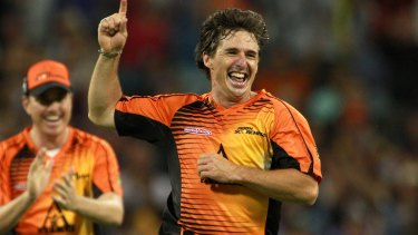 The effervescent Brad Hogg has had WACA crowds in the palm of his hand in recent years.