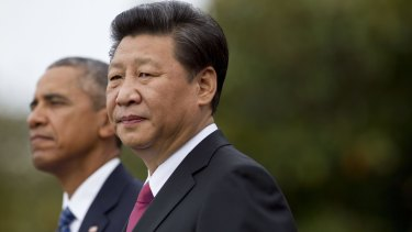 Chinese President Xi Jinping and US President Barack Obama at the White House in September.