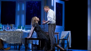 Cate Blanchett and Richard Roxburgh in the STC production of The Present, now about to start on Broadway.