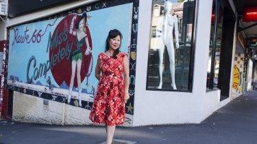Cultural landmark: Tina Lowe has battled to save the Darlinghurst mural.