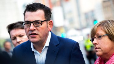 Premier Daniel Andrews speaks to the media on June 10. Seventeen months out from an election, Labor is in a precarious position.