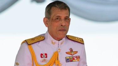 Thai King Maha Vajiralongkorn addresses the audience at the royal ploughing ceremony in Bangkok in May.