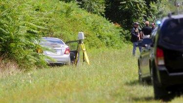 The car of suspected gunman Vester Flanagan in Fauquier County, Virginia.