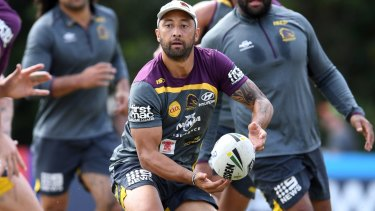 Half done: Benji Marshall says he does not deserve a starting spot in the Broncos side.