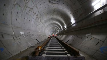 The first stage of a $20 billion-plus metro train line in Sydney is due to open in 2019.
