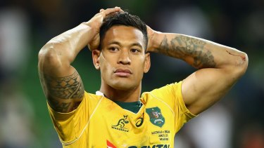 Plenty to think about: Israel Folau was predominantly kept under wraps by an extraordinary England defence.
