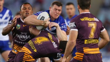 Back on track: Canterbury winger Brett Morris was in dazzling form against the Broncos.