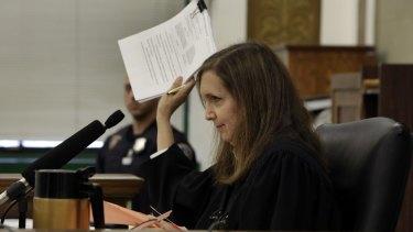 Decision pending: Judge Barbara Jaffe in the Manhattan State Supreme Court, in New York