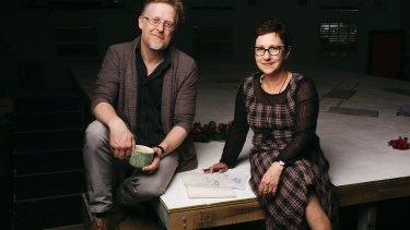 Serious business: Cartoonist Cathy Wilcox and director Damien Ryan.